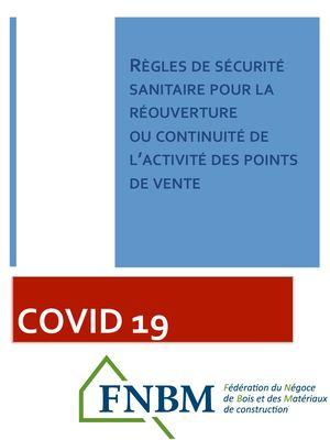 Vignette document Règles de sécurité sanitaire pour la réouverture ou continuité de l'activité des points de vente
