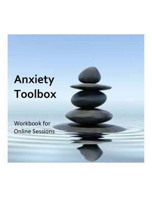 Anxiety Toolbox Workbook For Online Sessions