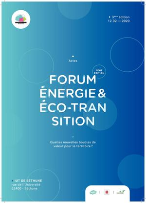Actes 2020 - Forum énergie & éco-transition