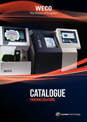 WECO OPTICAL FINISHING CATALOGUE FOR EYE CARE PROFESSIONAL