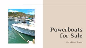 Powerboats For Sale At Best Prices Harbor Shoppers