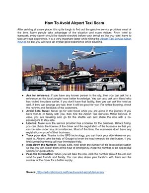 How To Avoid Airport Taxi Scam