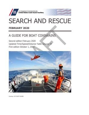 Search And Rescue A Guide For Coxswains February 2020
