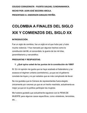 Calameo Colombia A Finales Del Siglo Xix Y Comienzos Del Siglo Xx