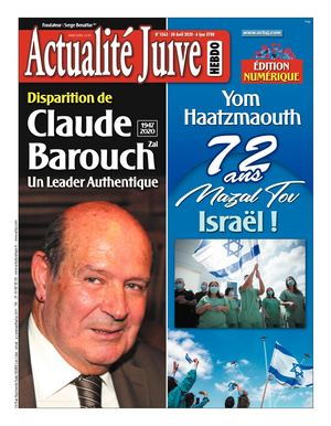 Actualité Juive Du 30 Avril 2020 Edition N°1563
