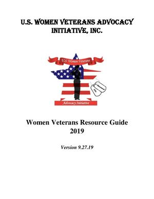 Uswvai Women Veterans Resource Guide 2019 Version 9 27 19