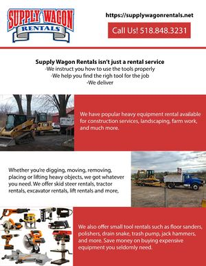 Heavy Equipment Rental, Construction Services Infographic