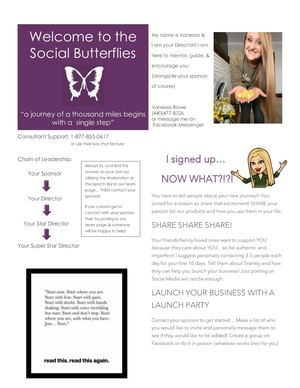 Team Welcome Letter- The Social Butterflies