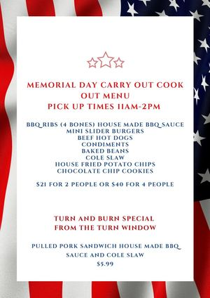 Red And Blue Bordered Memorial Day Poster (2)