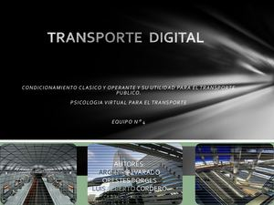 Revista Digital Para El Transporte
