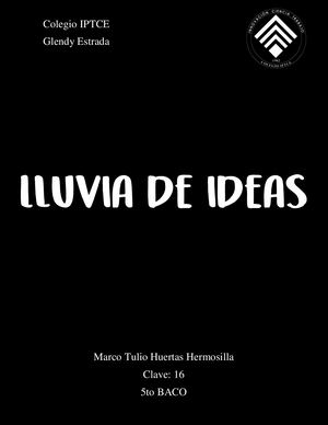 Lluvia De Ideas 9741