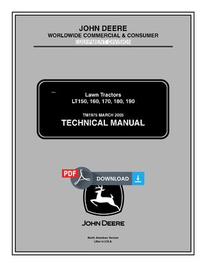 John Deere LT170 Manual