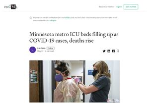 Minnesota metro ICU beds filling up as COVID-19 cases, deaths rise...