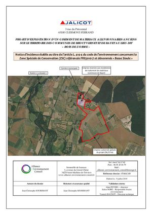 Annexe 4 - Notice Incidence NATURA 2000 Basse Sioule (ZSC FR8301017).