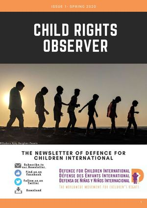 Child Rights Observer Spring 2020