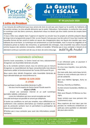 La gazette de l'Escale N°44