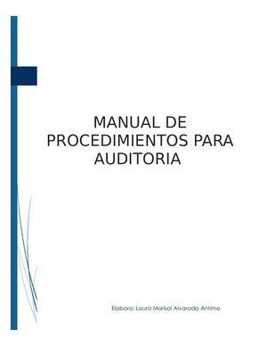 Manual Auditoria