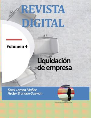 Revista Digital Liquidación De Empresa Volumen 4
