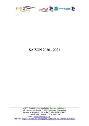 Inscription - Dossier 2020-2021
