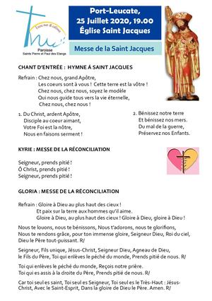 25 07 2020 -  Messe de la Saint Jacques