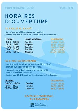 Ouverture 2020 Piscine Intercomunnale