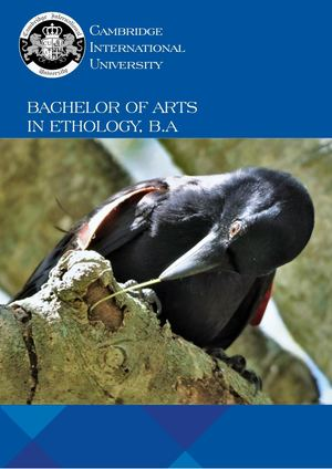 Bachelor of Arts in Ethology, B.Sc