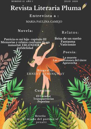 Calaméo Revista Literaria Pluma Xii