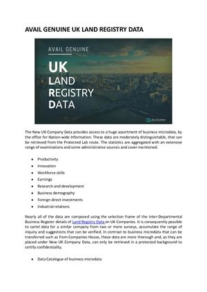Check UK Land Registry Information and Access the Data With DataGardener
