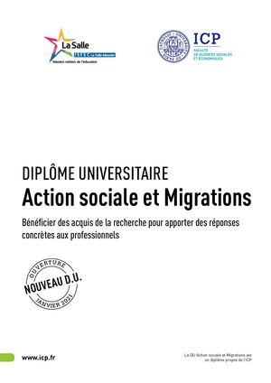 DU Action Sociale Et Migrations