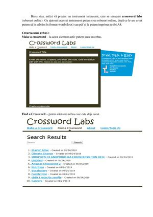Crossword Labs