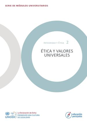 Module 2 Ethics And Universal Values Spanish