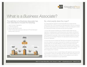 What Is A Business Associate?