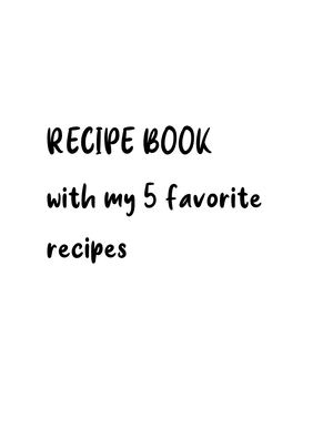 Tarea Ingles Recipe Book And Excercises On Page 27,28,29