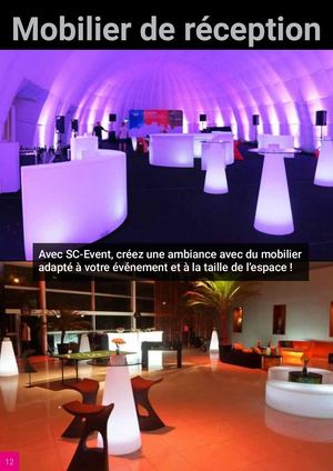 Mobilier Reception 2020