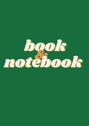 BOOK AND NOTEBOOK