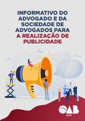 INFORMATIVO DO ADVOGADO E DA SOCIEDADE DE ADVOGADOS PARA A REALIZAÇÃO DE PUBLICIDADE