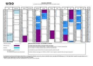 Calaméo   Calendrier Universitaire UBO 2020 2021