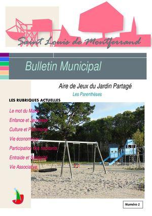 Bulletin N°01 Juillet 2020