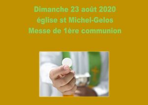 23 Août 2020 1ere Communion Mazères
