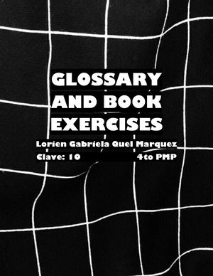 Glossary And Book Exercises