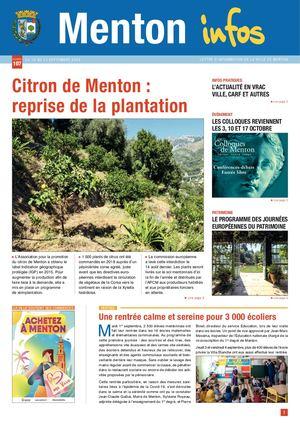 MENTON INFOS N°107