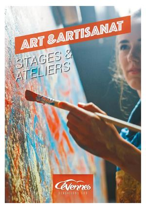 "Brochure ""Stages et ateliers - Art et artisanat 2020/2021"""