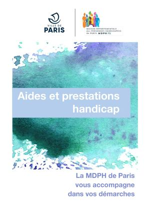 Livret aides et prestations handicap MDPH de Paris