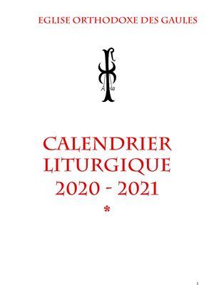 Calendrier Orthodoxe 2021 Calaméo   Calendrier Liturgique de l'Eglise Orthodoxe des Gaules 2021