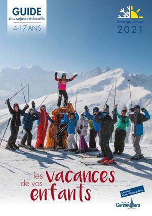 Séjours éducatifs 4-17 ans - hiver-printemps 2021