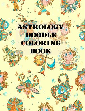 Astrology Doodle Coloring Book