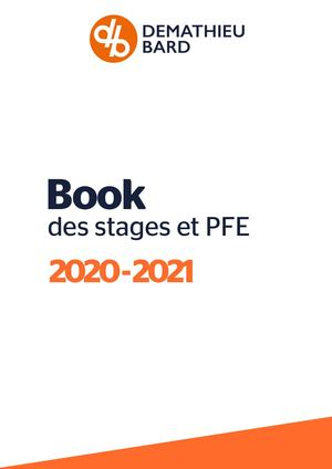 Book des stages DEMATHIEU BARD 2020-2021