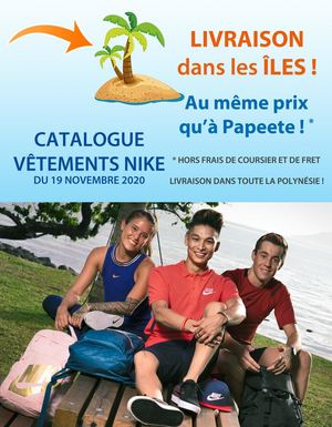 Catalogue Iles Vêtements Nike