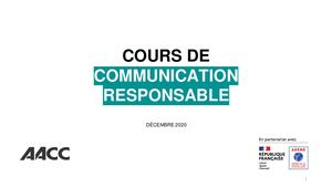 "AACC & Ademe ""Cours Com Responsable"""