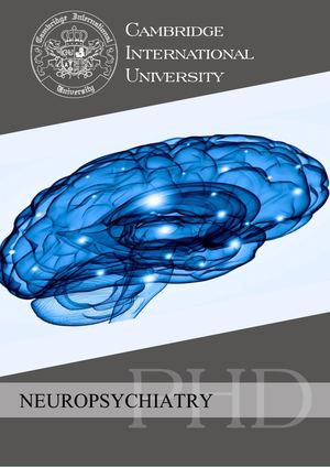 Neuropsychiatry, PhD.